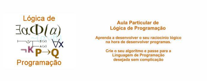 Aula e Curso Particular de Lógica de Programação