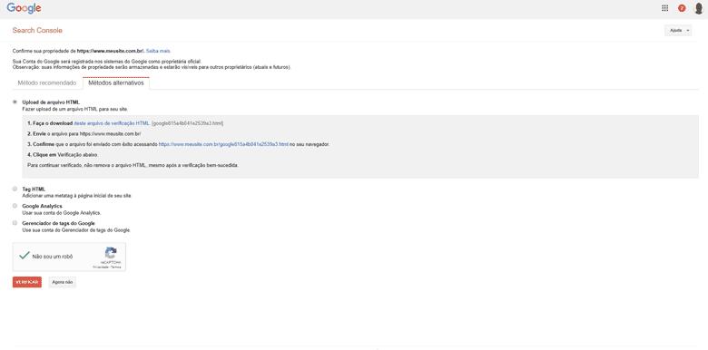Como anunciar no Google Gratuitamente – Tela Inicial – Concluindo a verificação