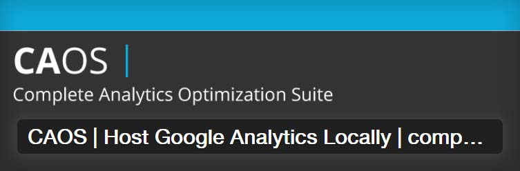 CAOS - Complete Analytics Otimization Suite for Google Analytics