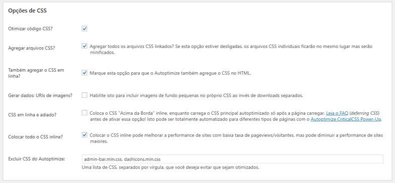 Otimizando e combinando o seu CSS